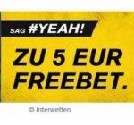 5,00 EUR Gratiswette bei Interwetten mit Code CL1920