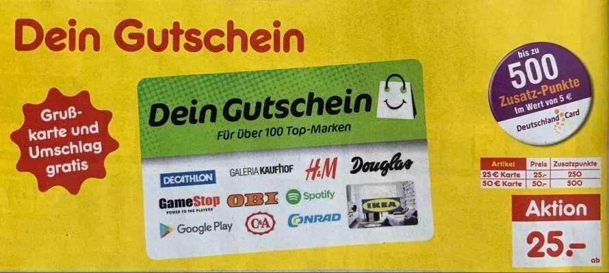 Wie viele punkte habe ich auf meiner deutschlandcard