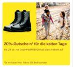 ebay - 20% Gutschein für die kalten Tage bis 28.10.20 mit dem Code PWINTER20 z.B. adidas, lacoste, puma, superdry
