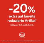 C&A: 20% zusätzlich auf alle Reduzierungen in den Filialen!