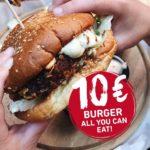 Sausalitos: All You Can Eat Burger für 10€ bis Donnerstag