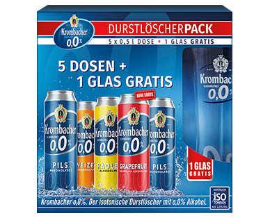 Krombacher Durstlöscher Pack 25 Liter Mit 00 Alkohol