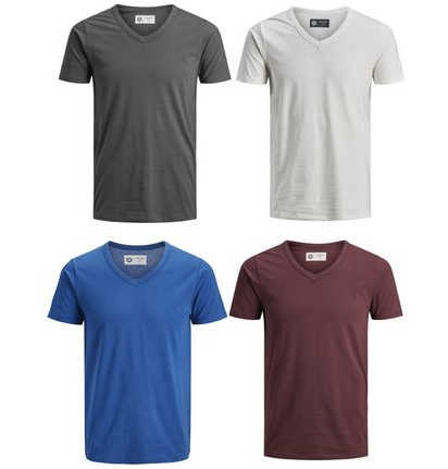 4er-pack-jack-jones-t-shirts-mit-v-neck-versch-farbkombis
