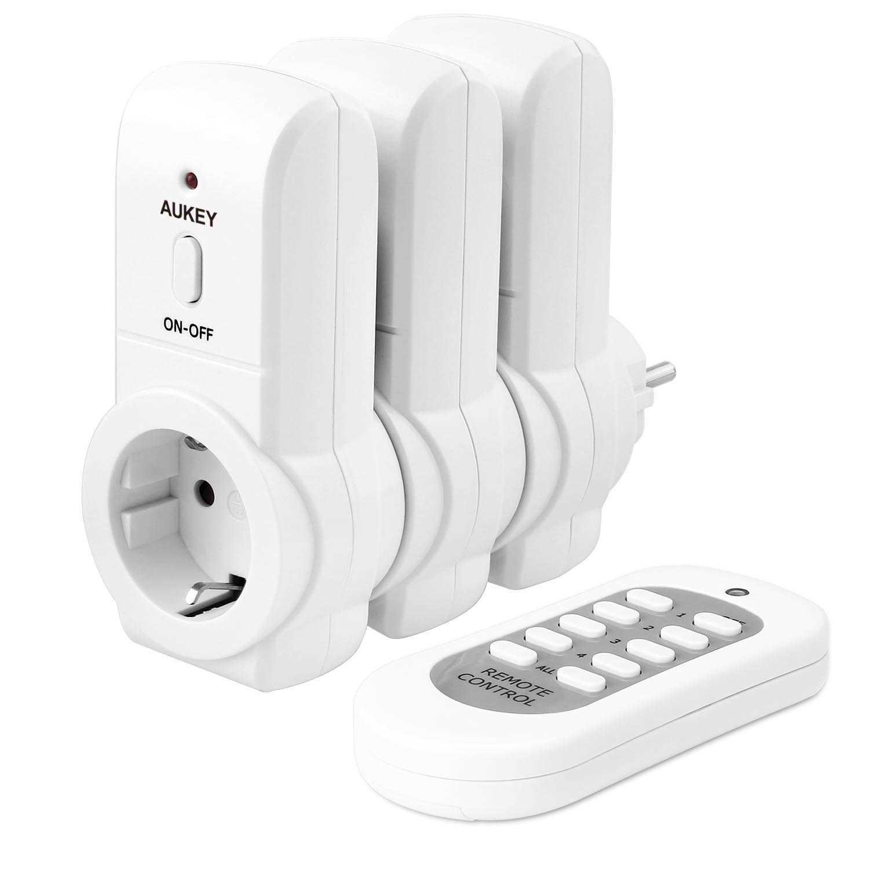 AUKEY Wireless Funksteckdose Programmierbarer Steckdosenschalter (3 ...