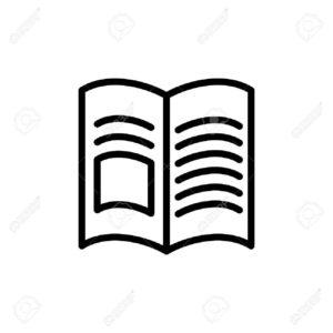 69471203-d_nne-linie-buch-zeitschrift-symbol-auf-wei_em-hintergrund