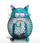 Eisen Spardose, künstlerische Katzen Spardose mit Rabattcode und Versandkostenfrei