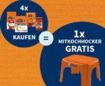 Mitkochhocker gratis beim Kauf von 4 Uncle Ben's Produkten