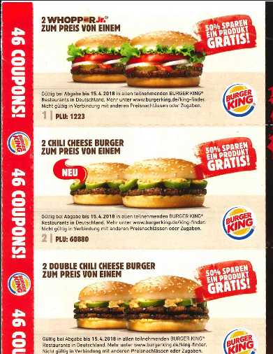 Burger king app no coupons