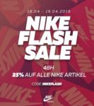Nike Flash Sale mit 25% auf alle NIKE Artikel