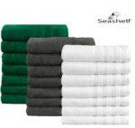 7x Seashell Luxor Hotel Deluxe Handtuch  50 x 100 cm für 25,90€ (statt 53€)