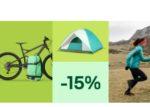 eBay: 15%-Gutschein für Radsport, Funsport, Camping & Outdoor sowie Angelsport