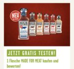Gratis testen - MADE FOR MEAT Grillsaucen von Kühne *ab 01.03.21*