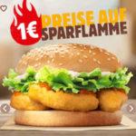 Burger und Co für 1€ bei Burger King - 27 Tage, 27 Angebote