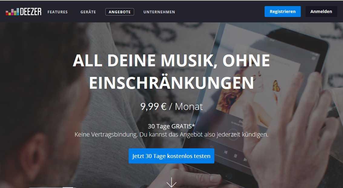 Deezer Premium Plus 30 Tage Kostenlos Testen Schnäppchen