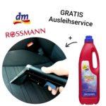 Gratis: Teppichreinigungsgerät bei dm oder Rossmann leihen beim Kauf eines Konzentrats für 19,99€