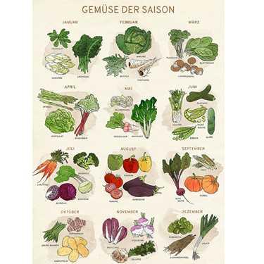 Gratis Poster Gemüse Der Saison