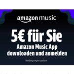 Amazon Music App: 5€ Gutschein bei Download und Anmeldung *für ausgewählte Nutzer*