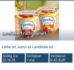 Reebate: 0,40€ Cashback auf Landliebe Fruchtjoghurt-Kauf mit 1 Cent Gewinn möglich