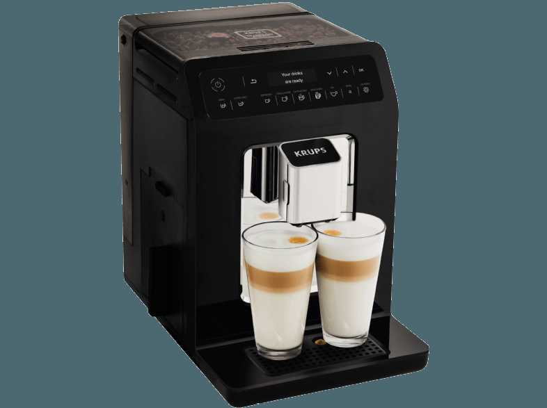 krups ea8908 evidence kaffeevollautomat schwarz edelstahl kegelmahlwerk 2 3 liter wassertank. Black Bedroom Furniture Sets. Home Design Ideas