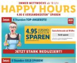 Versandkosten von 4,95 € spart bei den LIDL Happy Hours -  Gutscheincode: Geld-sparen