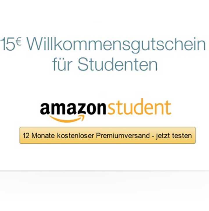 Amazon Student gratis testen und 15 € Gutschein bekommen