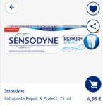 Gratis testen: Sensodyne Zahnpasta Protect und Repair
