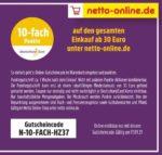 Nur heute: 10-fach Punkte ab 30€ bei Netto-Online