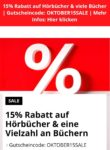 15% Rabatt auf Hörbücher und nicht preisgebundene Bücher bei Bol
