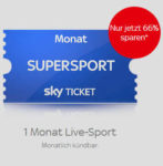 Sky Ticket Supersport für einmalig 9,99€ bis Ende April (statt 30€)