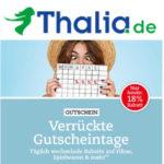 Thalia: 18% Rabatt auf Filme, Spielwaren und mehr bei den verrückten Gutscheintage - nur heute