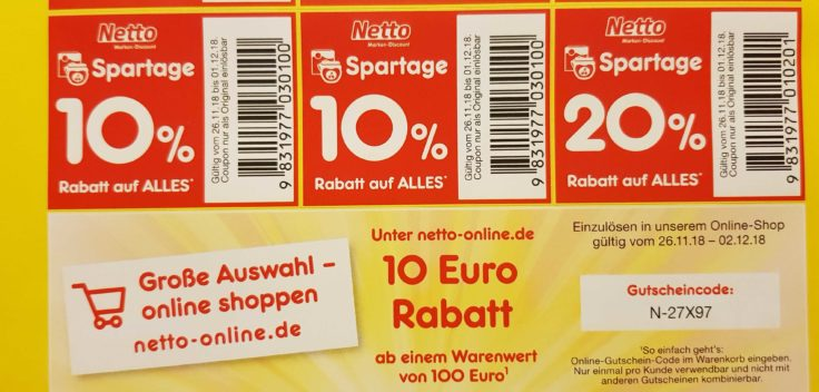 netto online coupon code