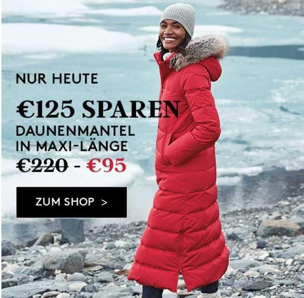 wo zu kaufen Ruf zuerst schön billig Landsend: 125€ für einen super Daunenmantel in Maxi-Länge ...
