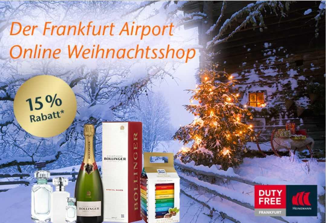 Bis 31.12.2018 15% bei Duty Free sparen wenn man von Frankfurt in ...
