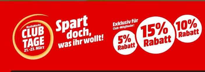 878cd33b436db8 Rabatte bei Media Markt Club Tage - ab heute 5% oder 10% oder 10% sparen