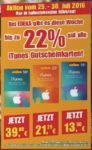 Bis zu 22% auf iTunes Guthaben bei EDEKA