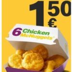 McDonald's App: 6 Chicken McNuggets für 1,50€
