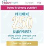 """GRATIS """"250 babypoints"""" kostenlos für kurze Umfrage von babymarkt.de"""
