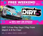 """GRATIS Offroad-Rennfahrer-Spiel """"DIRT 5"""" kostenlos im Steam-Store vom 4. bis 8. März 21 (19:00 Uhr) bei den """"DIRT 5 Free Play Days"""" spielen"""