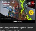 """Gratis Spiel """"Idle Champions of the Forgotten Realms"""" kostenlos im Epic-Games-Store (bis 6. Mai) + 23 weitere Spiele"""