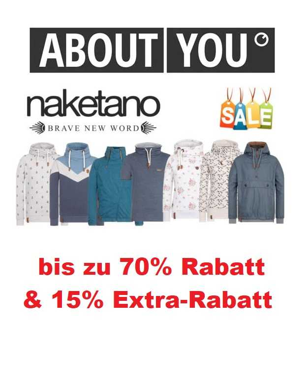 AboutYou: Naketano Sale bis zu 50% Rabatt & 15% Extra Rabatt!