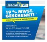 Euronics: 19% MWST. Geschenkt auf ausgewählte Samsung-Produkte!