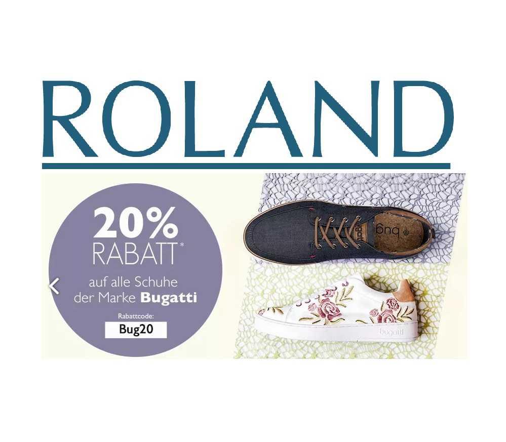 Heute bei Roland Schuhe: 20% Rabatt auf Bugatti Schuhe!