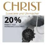 Christ: 20% Rabatt auf Herren Uhren- und Accessoires!