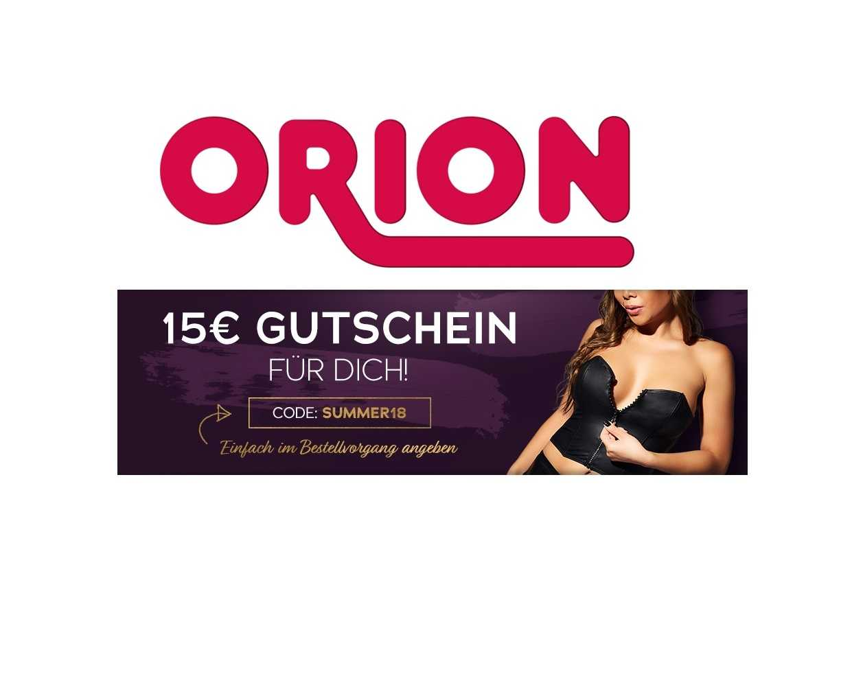Gutschein Orion