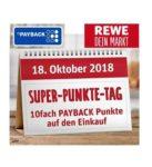 Donnerstag bei REWE: Payback Superpunkte Tag = 10-Fach punkten!