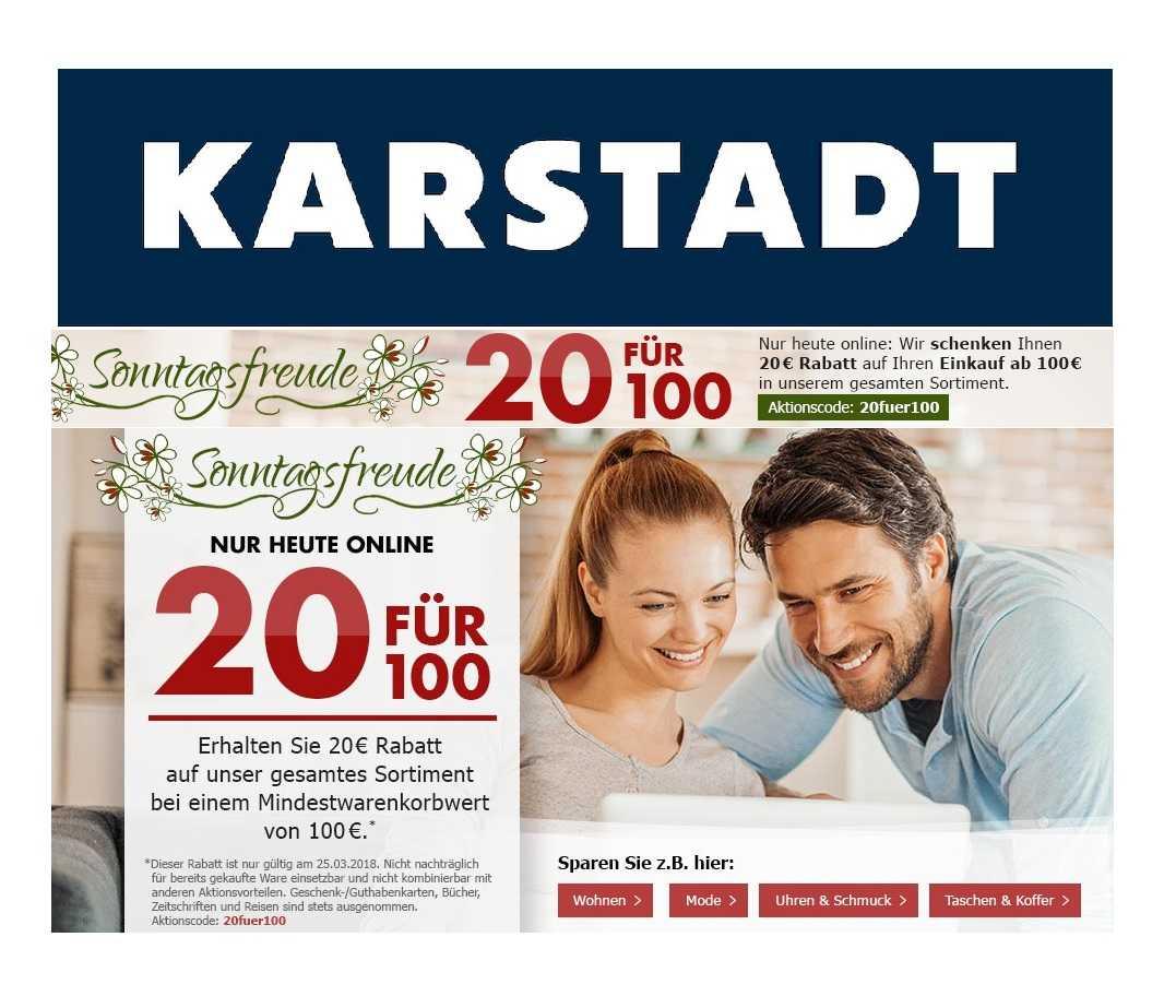 08efd1f86822d Karstadt  20€ Gutschein ab 100€ Einkaufswert