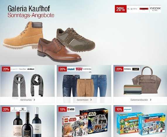 1a4a88baa8c95 Hier wieder die Sonntags-Angebote bei Galeria Kaufhof – Bis zu 20 ...