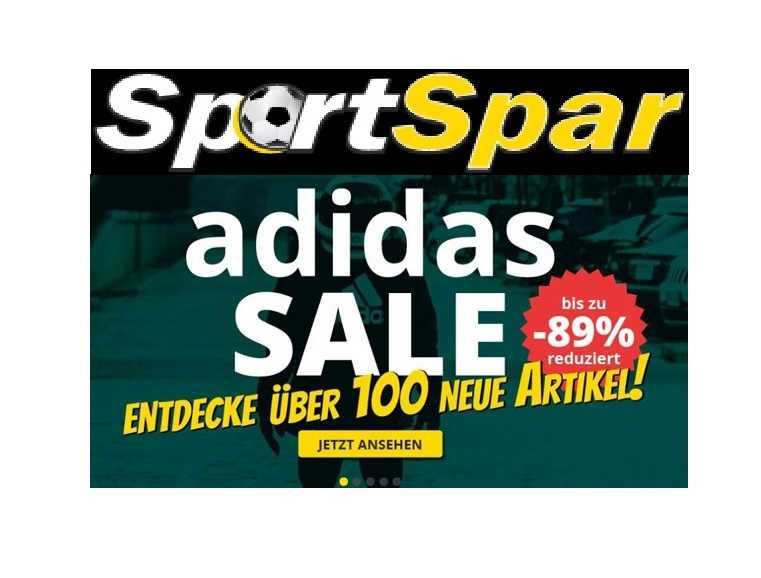 Großer Sale bei SportSpar: Adidas Artikel bis zu 89% reduziert!