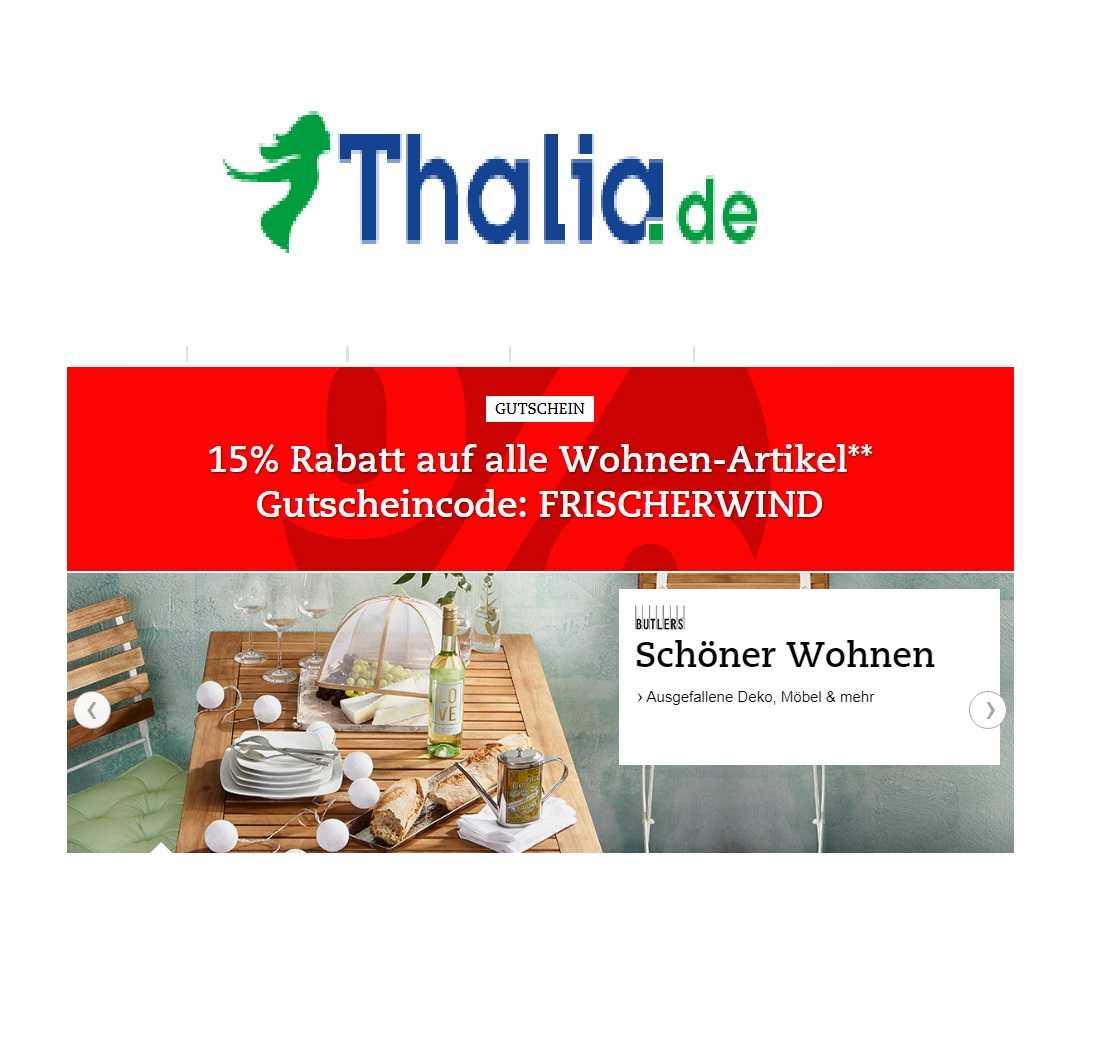 Thalia 15 Rabatt Auf Alle Wohnen Artikel Schnäppchen Blog Mit