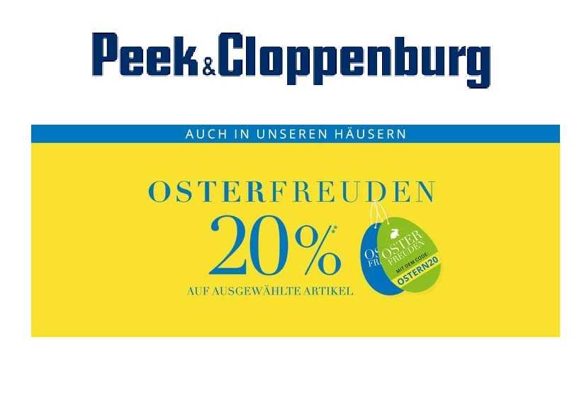 a503afbd3efc3c Peek   Cloppenburg   20% Rabatt auf ausgewählte Artikel!